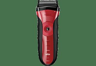 BRAUN Series 3 340 Rasierer Schwarz/Rot (Wet & Dry)
