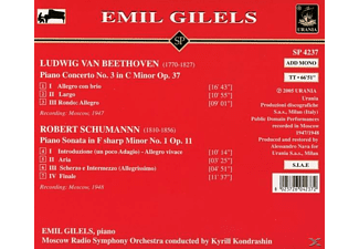 Moscow Radio Symphony Emil Gilels - Gilels spielt Beethoven und Schumann  - (CD)