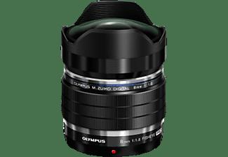 OLYMPUS M.ZUIKO DIGITAL ED 8mm 8 mm - 8 mm f/1.8 PRO (Objektiv für Micro-Four-Thirds, Schwarz)