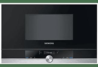 Microondas integrable - Siemens BF634RGS1, 900 W, 21 L, Anchura 60 cm, Altura 38 cm, LED, Negro