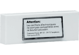 BYRON 7750 Klingelplatte, Weiß