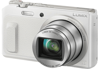 Cámara - Panasonic Lumix DMC-TZ57 Blanco, 16Mp, WiFi, Full HD