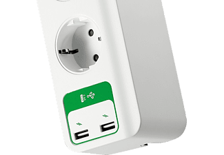 APC Überspannungsschutz SurgeArrest Essential, 5-fach, 2x USB (PM5U-GR)