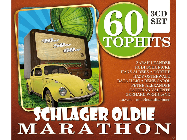 VARIOUS - 60 Top-Hits Schlager Oldie Marathon [CD]