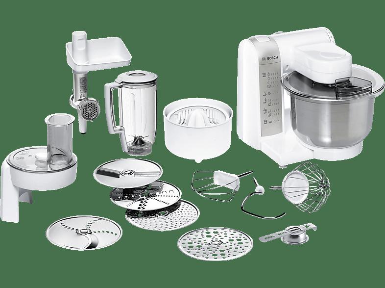 BOSCH MUM48140DE Küchenmaschine Weiß (Rührschüsselkapazität: 3,9 Liter, 600 Watt)
