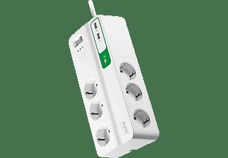 APC Überspannungsschutz SurgeArrest Essential, 6-fach, 2x USB (PM6U-GR)