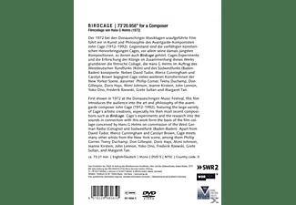 Hans G Helms, Helms/Tudor/Cunningham/+ - Birdcage-73'20, 598 For A Composer (Filmcollage)  - (DVD)