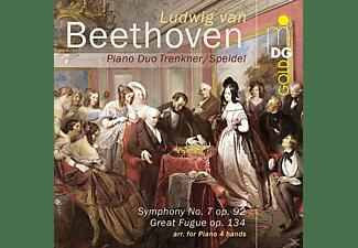 Pianoduo Trenkner / Speidel - Sinfonie 7/Great Fugue  - (SACD Hybrid)