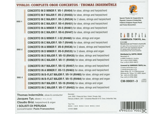 TYS/INTERM HLE/BRIZI/ I SOLISTI DI, Indermühle/Brizi/Solisti Perug - Sämtliche Oboenkonzerte (Ga)  - (CD)
