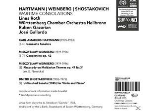 Linus/württemberg Chamber Orchestra Heil Roth - Wartime Consolations  - (SACD)