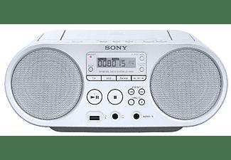 Radio CD - Sony Boombox ZSPS50W, Blanco