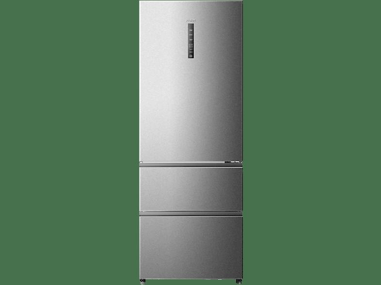 HAIER A3FE-742CMJ  Kühlgefrierkombination (A++, 313 kWh/Jahr, 1905 mm hoch, Edelstahl)