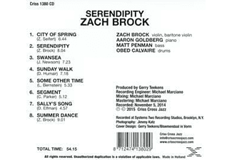 Zach Brock - Serendipity  - (CD)