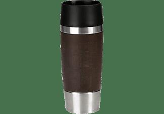 EMSA 513360 Travel Mug Thermobecher Braun/Schwarz/Silber