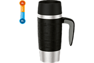 EMSA 514096 Travel Mug Thermobecher Schwarz/Silber