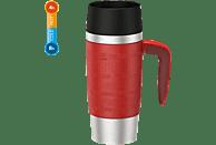 EMSA 514098 Travel Mug Thermobecher Rot/Silber/Schwarz