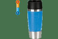 EMSA 513552 Travel Mug Thermobecher Wasserblau/Silber/Schwarz