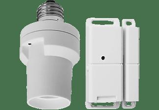 SMARTWARES SHS-51001-EU Funk-Lampenfassung mit einem Magnetkontakt, Weiß