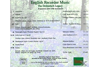 Ball Winters - English Recorder Music [CD]