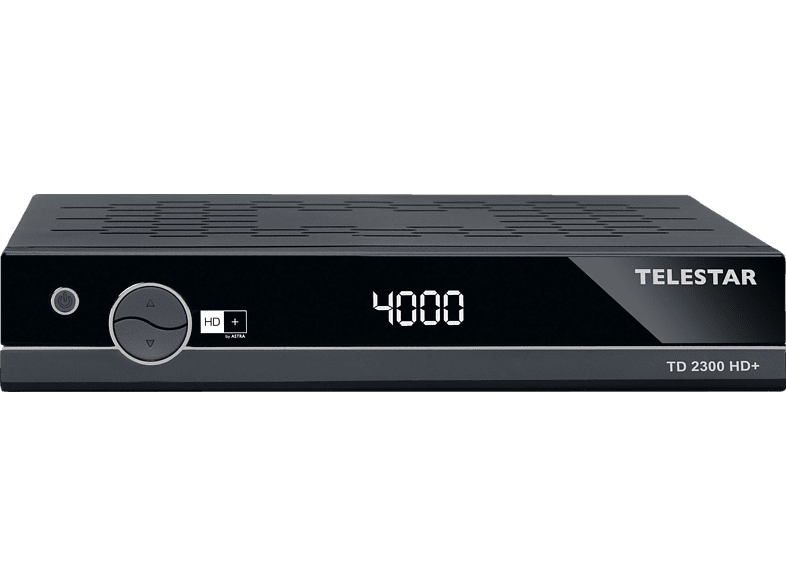 TELESTAR TD 2300 HD+ Sat-Receiver (HDTV, HD+ Karte inklusive, DVB-S, DVB-S2, Schwarz)