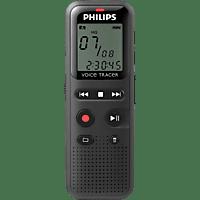 PHILIPS DVT1150 Diktiergerät, Schwarz