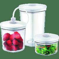 CASO 1260 Vakuumier-Behälter-Set Transparent/Weiß