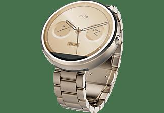 Smartwatch - Motorola Moto 360 con correa metálica, 4 GB, 512 MB RAM, plateado