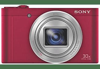 Cámara - Sony DSC-WX500, WiFi, NFC, 18.2Mp, zoom óptico 30x, Rojo