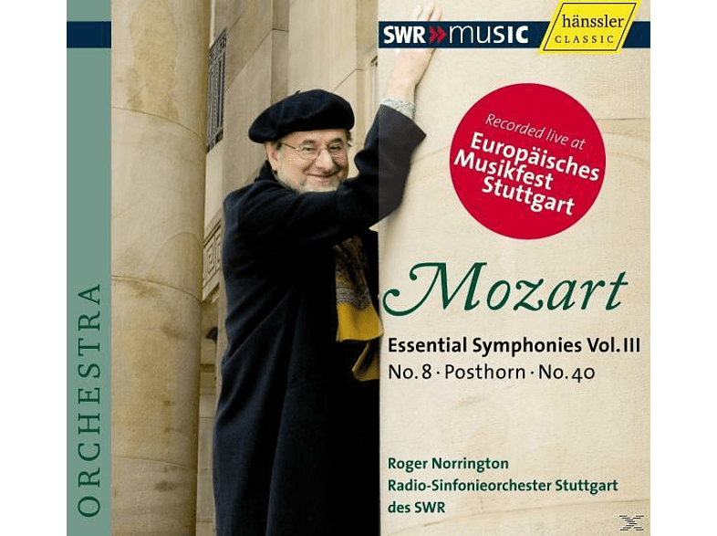 Roger Norrington - Wolfgang Amadeus Mozart (1756-1791): Symphonien Vol. 3 [CD]