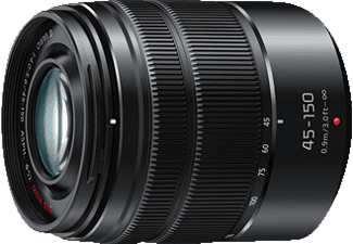 PANASONIC H-FS 45150 EKA Lumix G 45 mm - 150 mm f/4-5.6 ASPH, OIS (Objektiv für Micro-Four-Thirds, Schwarz)