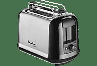 MOULINEX LT 2618 Toaster Edelstahl Matt/Schwarz (850 Watt, Schlitze: 2)