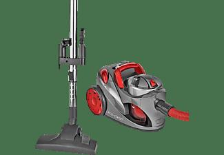CLATRONIC BS 1294 Bodenstaubsauger Staubsauger, maximale Leistung: 700 Watt, Anthrazit/Rot)
