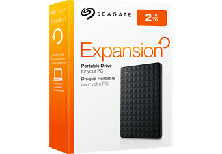 SEAGATE Expansion Portable, 2 TB HDD, 2,5 Zoll, extern, Schwarz