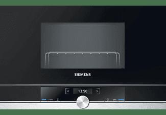 Microondas - Siemens BE634LGS1 Integrado, 900W, 21L, Acero Inoxidable, Negro
