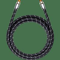 OEHLBACH Digitales State of the Art-Antennenkabel XXL Transmission Ultra 75 AK 0,75 m Kabel, Schwarz/Grau