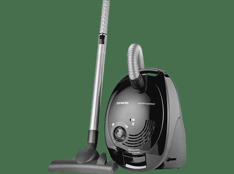 SIEMENS VS06A110 (mit Beutel, Hygienefilter, Schwarz)