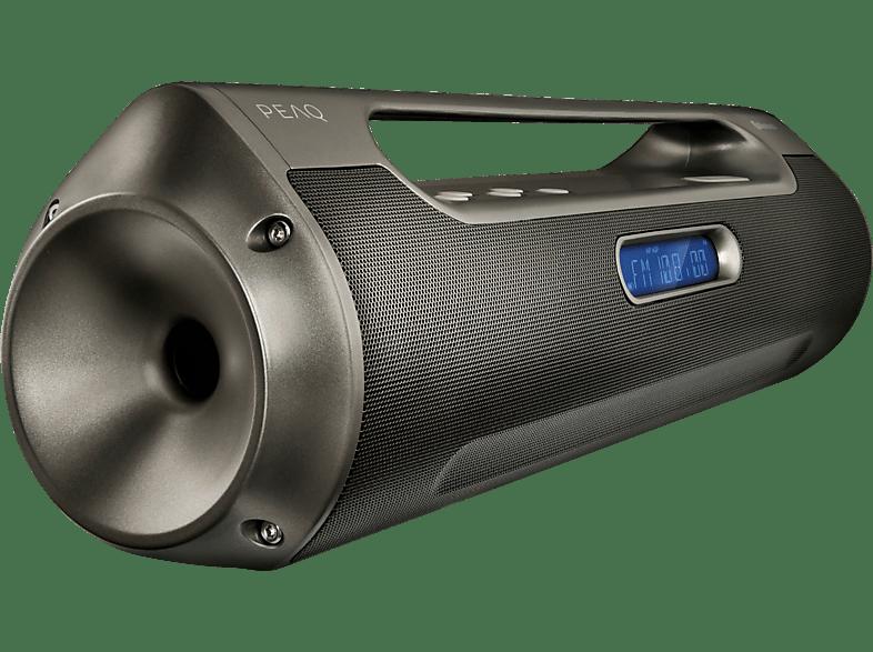 PEAQ PPB200 Boombox Radio (FM, Schwarz)
