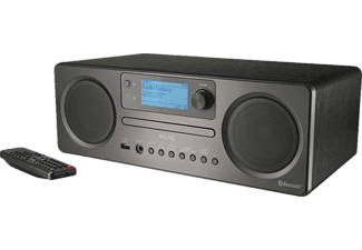 PEAQ Kompaktanlage PDR350BT Internetradio mit CD-Player, DAB+ Empfang, Bluetooth