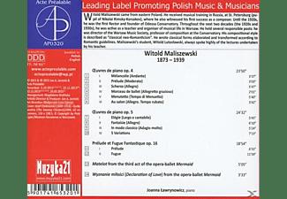 Witold (1873-1939) Maliszewski - Klavierwerke  - (CD)