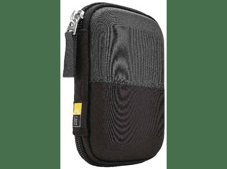 CASE LOGIC Portable Hard Drive Case für externe Festplatten bis 2.5 Zoll Festplatten Hardcase, Schwarz