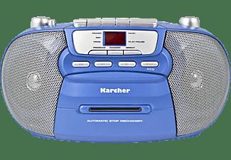 KARCHER RR 5040 Boombox mit Kassettendeck Radio, Blau