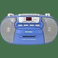 KARCHER RR 5040 Boombox mit Kassettendeck Radio (Blau)