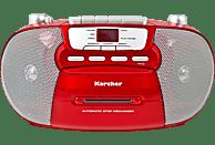 KARCHER RR 5040 Boombox mit Kassettendeck Radio, Rot