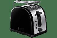 RUSSELL HOBBS 21293-56 Legacy Black Toaster Edelstahl/Schwarz (1300 Watt, Schlitze: 2)