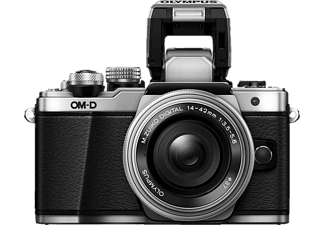 OLYMPUS OM-D E-M10 Mark II silber mit Objektiv M.Zuiko digital 14-42mm EZ