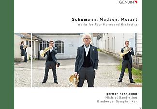 German Hornsound, Bamberger Symphoniker, Michael Sanderling - Works For Four Horns And Orchestra  - (CD)