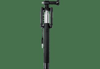 ISY Corded Selfie Stick, Schwarz