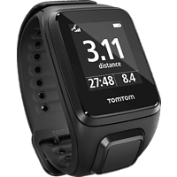 TOMTOM Spark Music Large, GPS Fitness Uhr, L (143-206 mm), Schwarz