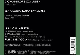 Fabio Missaggia, I Musicali Affetti - La Gloria, Roma E Valore-Cantata À 3 Voci  - (CD)