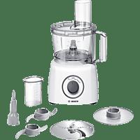 BOSCH MCM3100W MultiTalent3  Kompaktküchenmaschine Weiß/Grau (Rührschüsselkapazität: 2,3 Liter, 800 Watt)